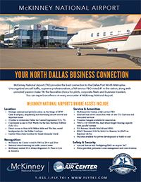McKinney National Airport brochure