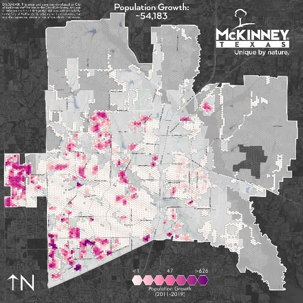 McKinney Population Change (2011-2019)