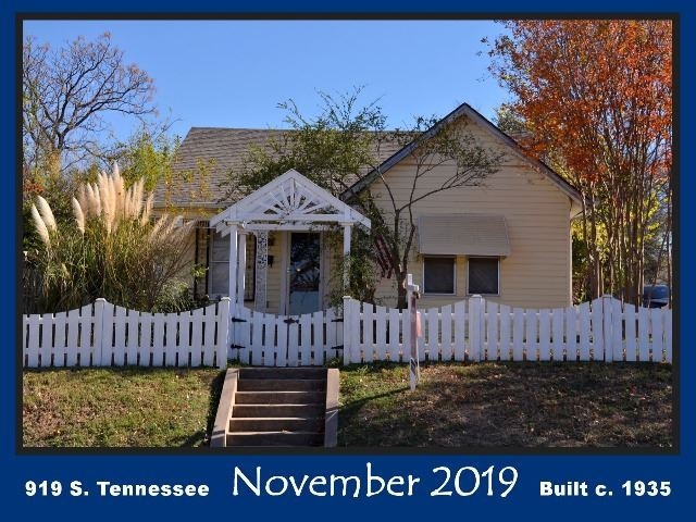 Historic Home Recognition - November 2019 - 919 S. Tennessee St.