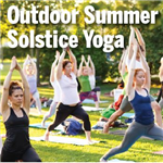 Outdoor Summer Solstice Yoga Graphic