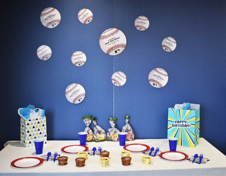 All-star Sports Theme Staged with Baseball Decor