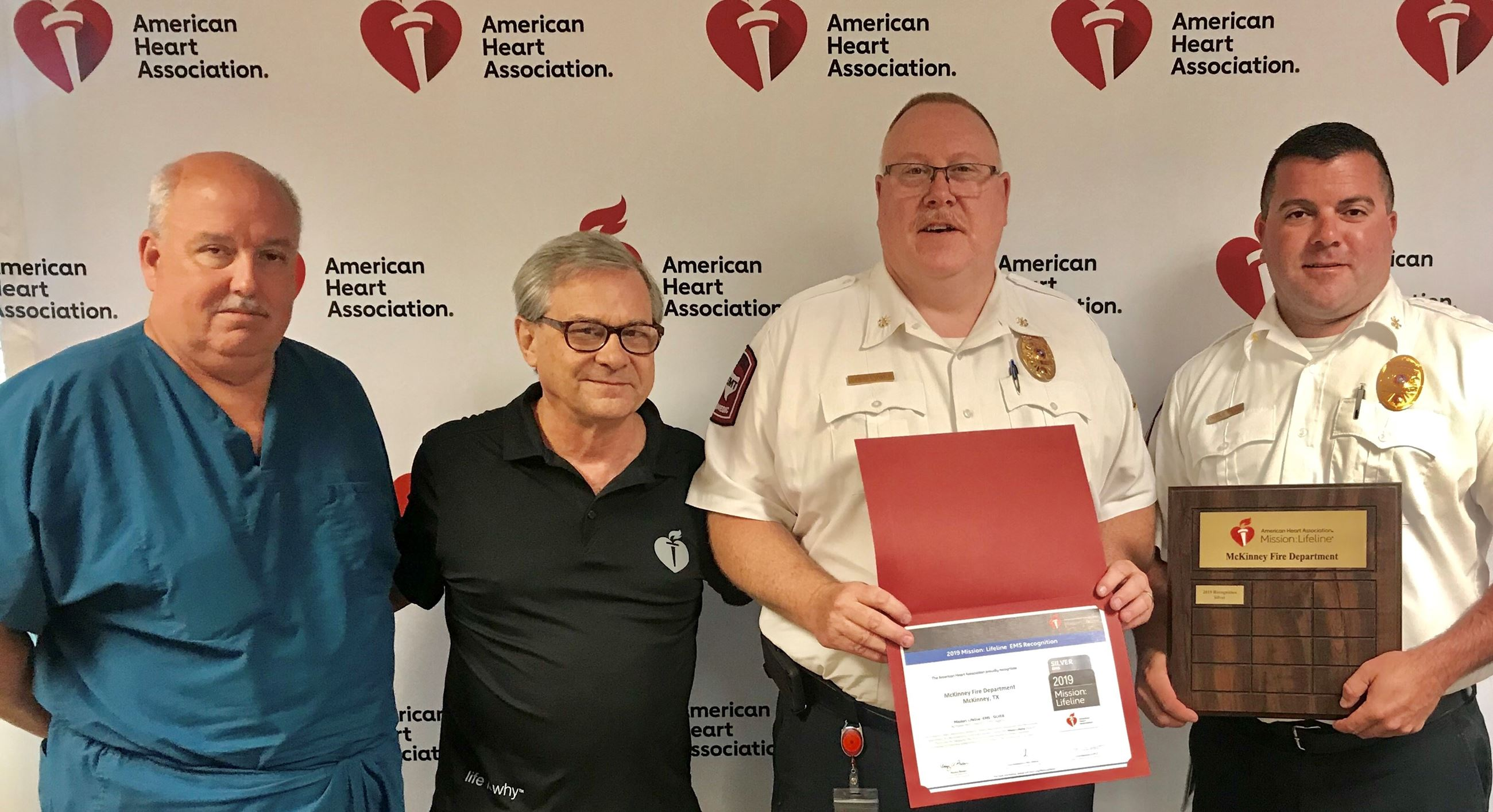 Fire Department Honored for treatment of heart attack patients