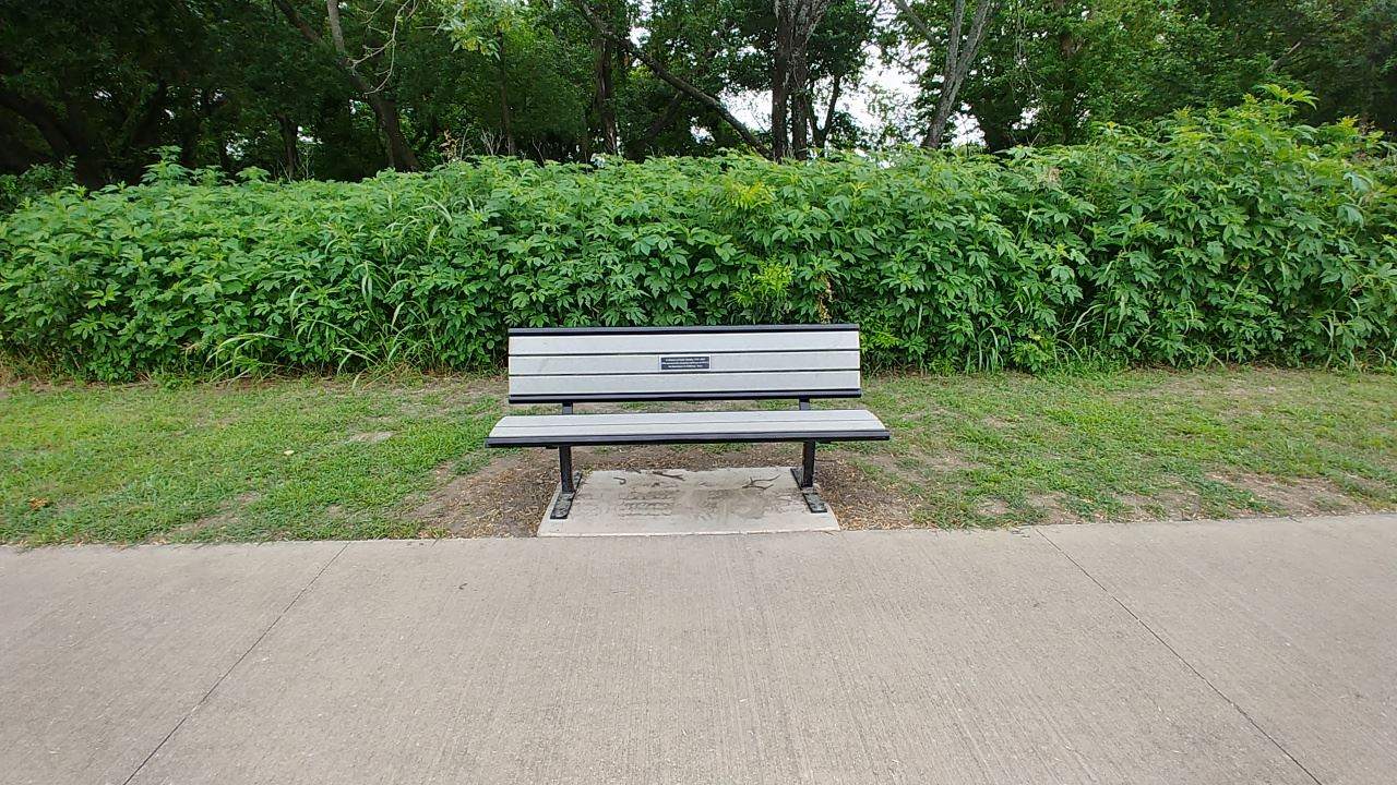 Memorial Bench at Bonnie Wenk Park