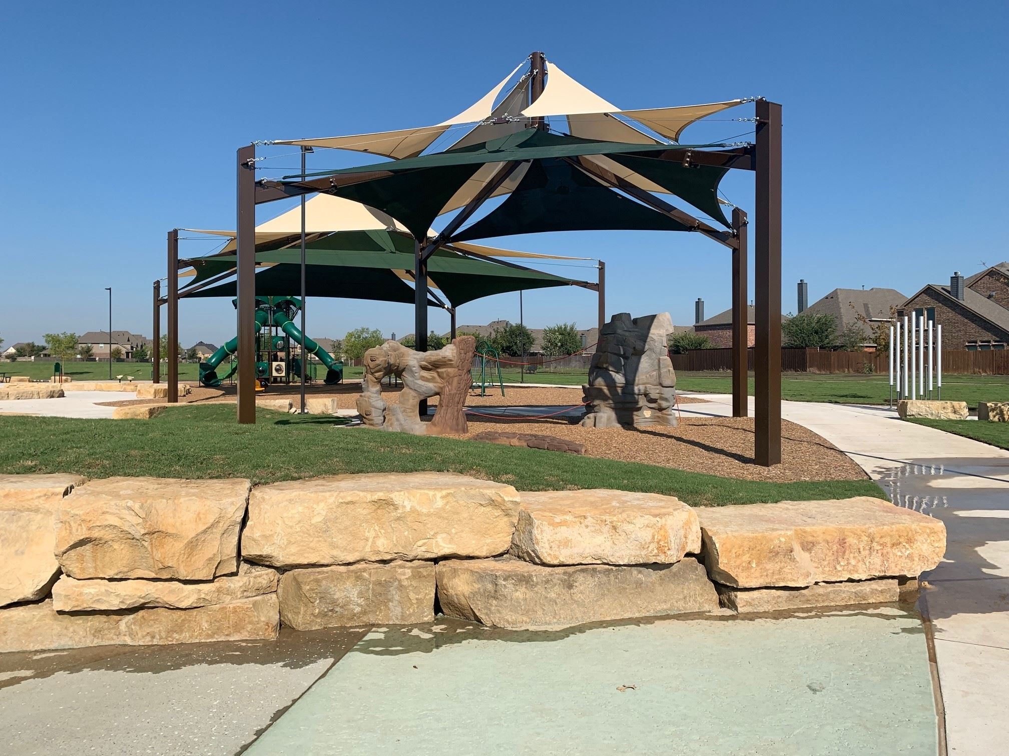 Climbing structure at George Webb Park