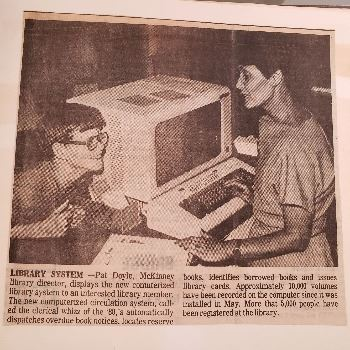 Computerized Library System 1980s