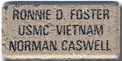 "Patriot Level Paver 4""x6"", 3 lines of text"