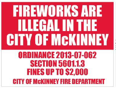 $2,000 Fine for Fireworks in McKinney