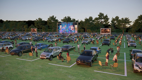 MPAC Summer Drive-In Concert Series at TUPPS Brewery parking layout